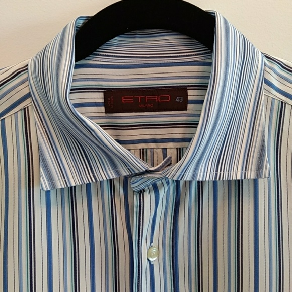 Etro Other - 5/$30 Etro Milano Button Down Dress Shirt Striped